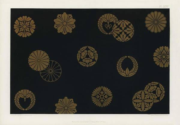 Wall Art - Painting - Vintage Japanese Pattern From The Practical Decorator And Ornamentist 1892 By G.a Audsley And M.a. by GA Audsley and MA Audsley