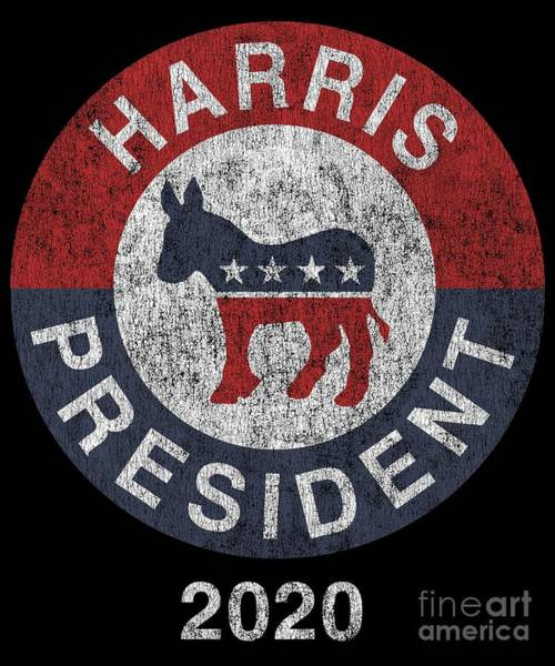 Digital Art - Vintage Kamala Harris For President 2020 by Flippin Sweet Gear
