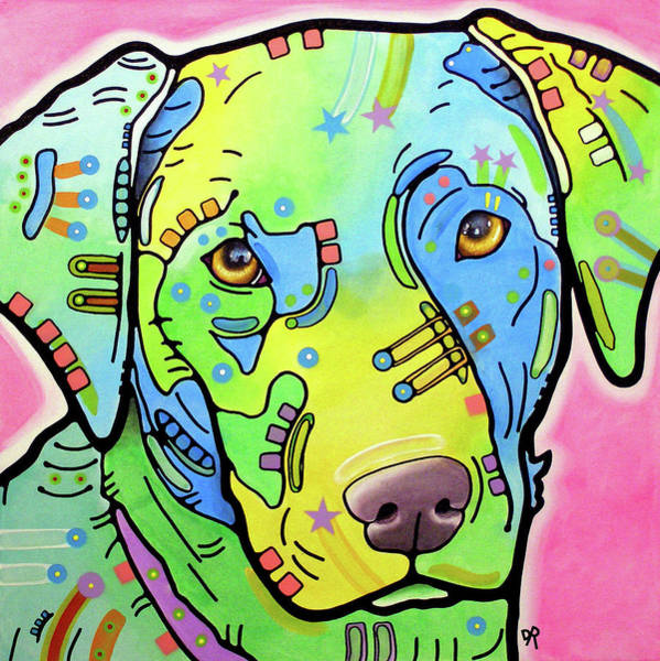 Painting - Vintage Labrador by Dean Russo Art