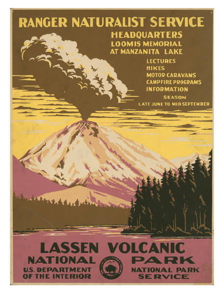Wall Art - Photograph - Vintage Lassen Volcanic National Park Travel Poster by Ricky Barnard