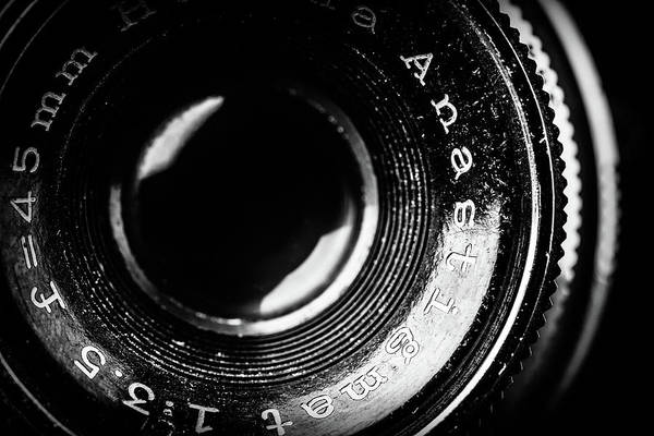 Photograph - Vintage Lens Closeup by SR Green