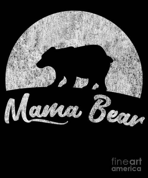 Digital Art - Vintage Mama Bear by Flippin Sweet Gear