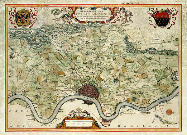 Bremen Wall Art - Photograph - Vintage Map Of Cologne by Jon Neidert