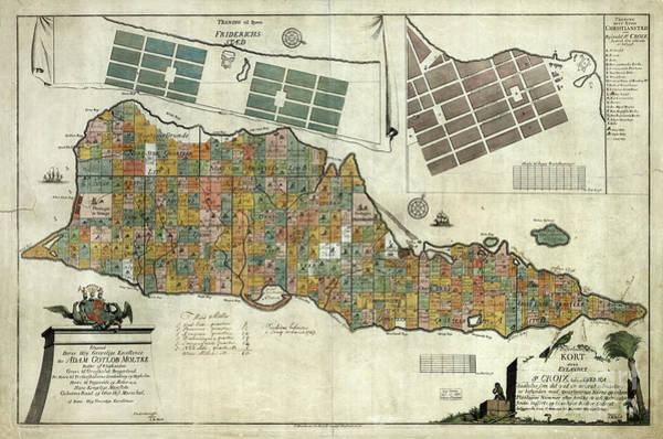Wall Art - Photograph - Vintage Map Of St Croix  by Jon Neidert