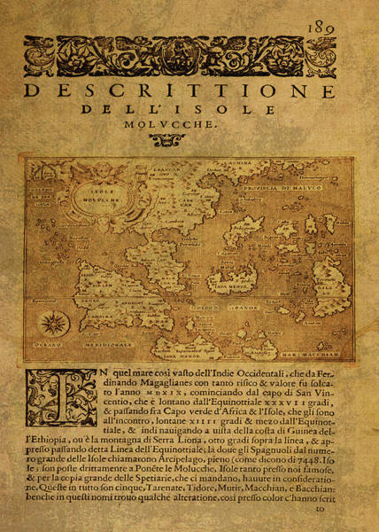 Island Mixed Media - Vintage Map Of The Spice Islands 1576 by Design Turnpike