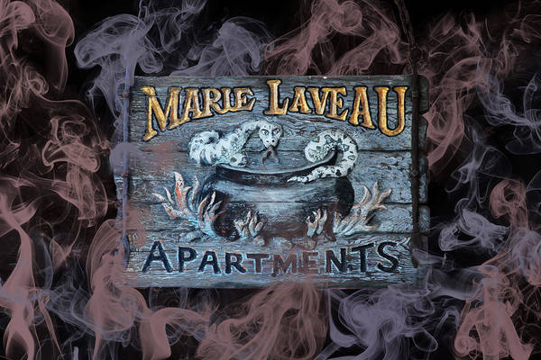 Digital Art - Vintage Marie Laveau Aparments Sign by Debi Dalio
