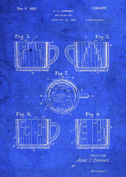 Patent Mixed Media - Vintage Measuring Cup Patent Blueprint by Design Turnpike