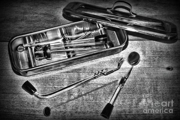 Wall Art - Photograph - Vintage Medical Sterilizer Black And White by Paul Ward