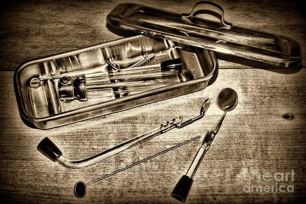 Wall Art - Photograph - Vintage Medical Sterilizer Sepia by Paul Ward
