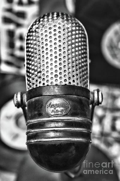 Wall Art - Photograph - Vintage Microphone Argonne Ar 57 Black And White by Paul Ward