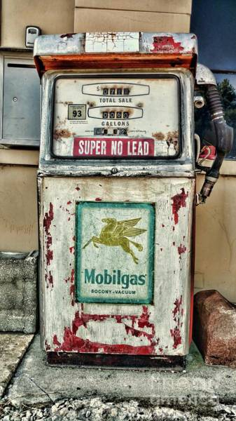 Wall Art - Photograph - Vintage Mobil Gas Pump by Paul Ward