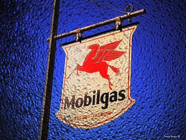 Photograph - Vintage Mobilgas by Wesley Nesbitt