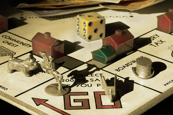 Monopoly Photograph - Vintage Monopoly 2 by Mike Eingle