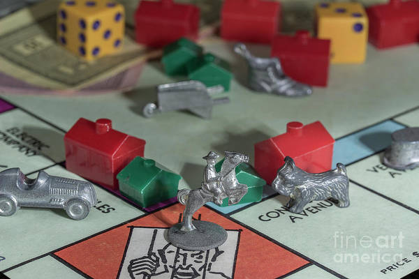 Monopoly Photograph - Vintage Monopoly 3 by Mike Eingle