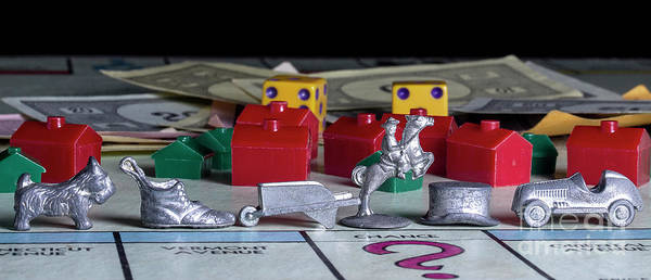 Monopoly Photograph - Vintage Monopoly 4 by Mike Eingle