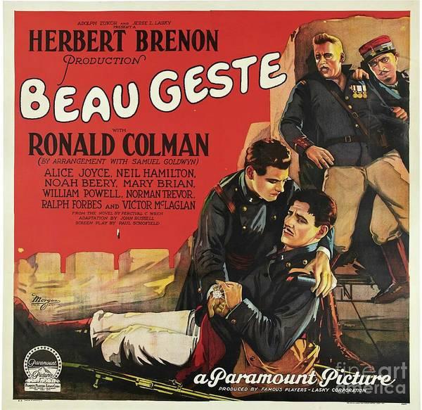Wall Art - Painting - Vintage Movie Poster - Beau Geste by Esoterica Art Agency