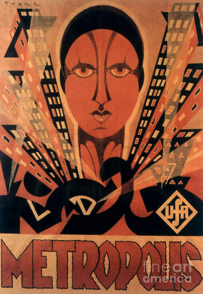 Wall Art - Painting - Vintage Movie Poster For Metropolis, Directed By Fritz Lang, 1927 by German School