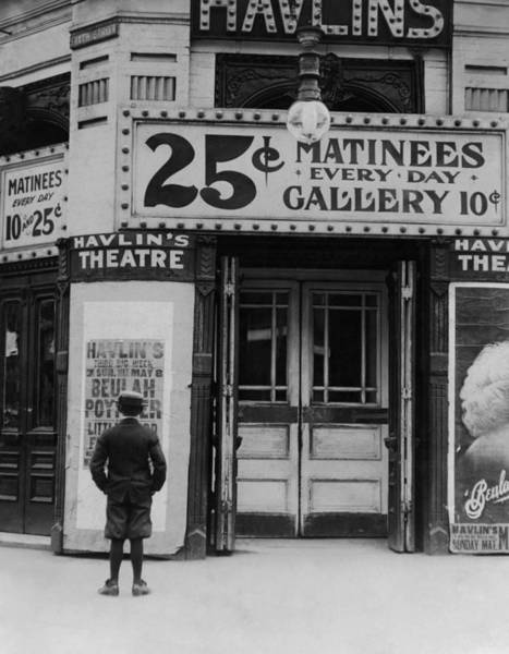 Wall Art - Photograph - Vintage Movie Theater Marquee - St. Louis - 1910 by War Is Hell Store