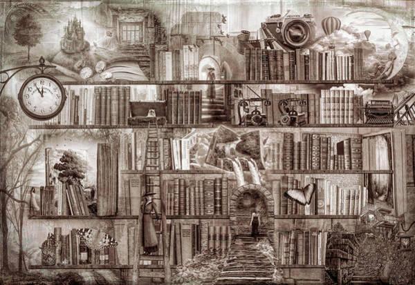 Digital Art - Vintage Mystery Writers by Debra and Dave Vanderlaan