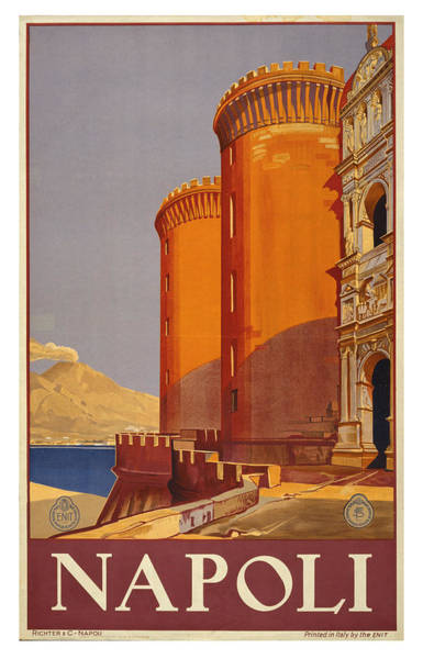 Wall Art - Photograph - Vintage Napoli Travel Poster by Ricky Barnard