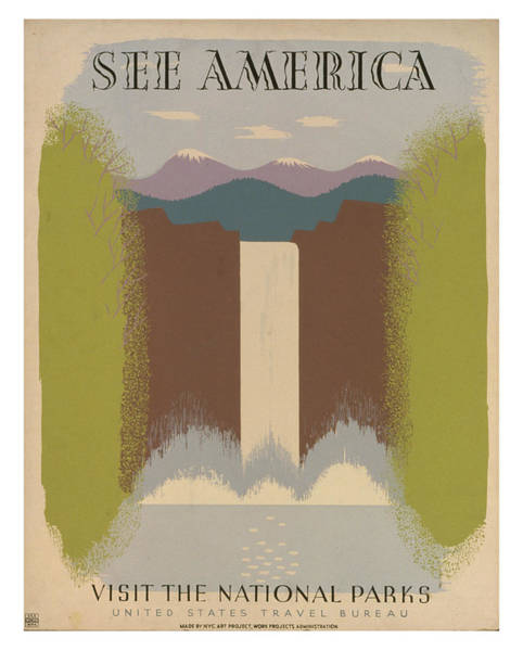 Wall Art - Photograph - Vintage National Parks Travel Poster 2 by Ricky Barnard