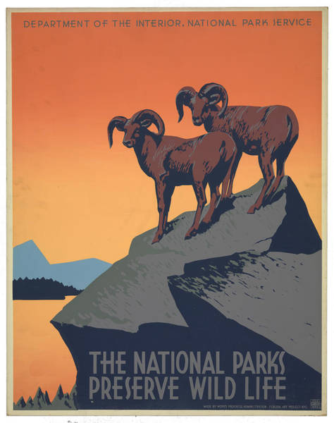 Wall Art - Photograph - Vintage National Parks Travel Poster by Ricky Barnard