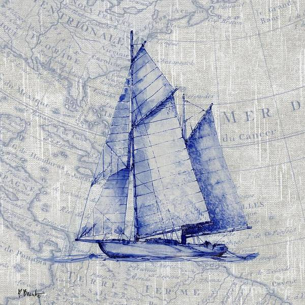 Wall Art - Painting - Vintage Nautical V by Paul Brent