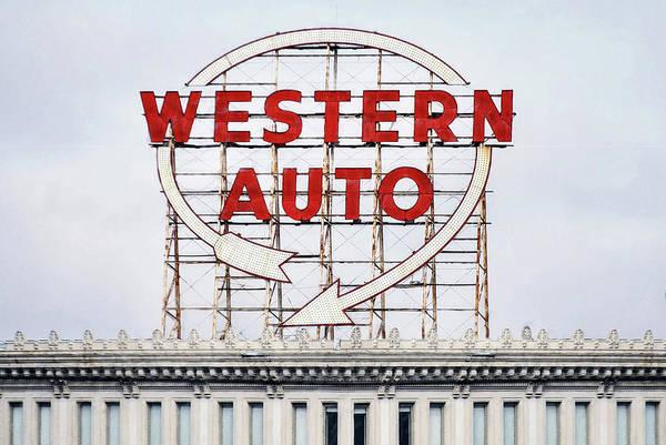 Neon Lights Mixed Media - Vintage Neon Sign - Western Auto - Kansas City by Joseph Oland