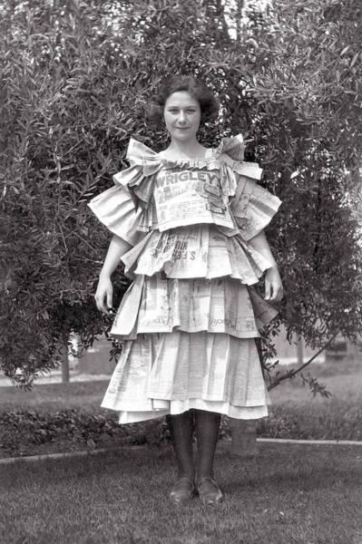 Photograph - Vintage Newspaper Dress Halloween by Marilyn Hunt