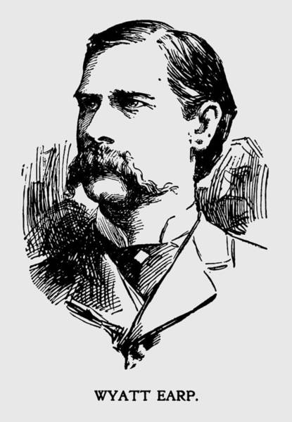 Wall Art - Photograph - Vintage Newspaper Wyatt Earp Portrait 1896 - T-shirt by Daniel Hagerman