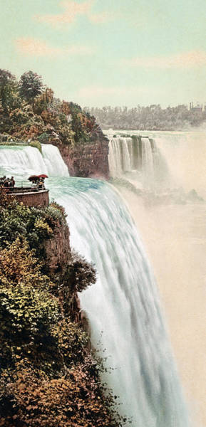 Wall Art - Photograph - Vintage Niagara Falls Five - 1900 by War Is Hell Store
