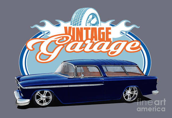 1955 Chevy Digital Art - Vintage Nomad by Paul Kuras