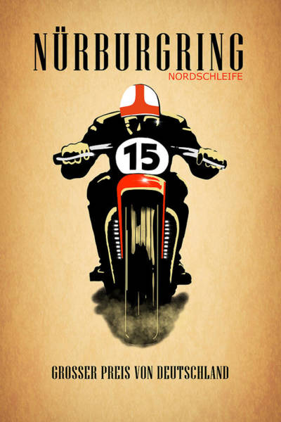 Photograph - Vintage Nurburgring Nordschleife Poster by Mark Rogan