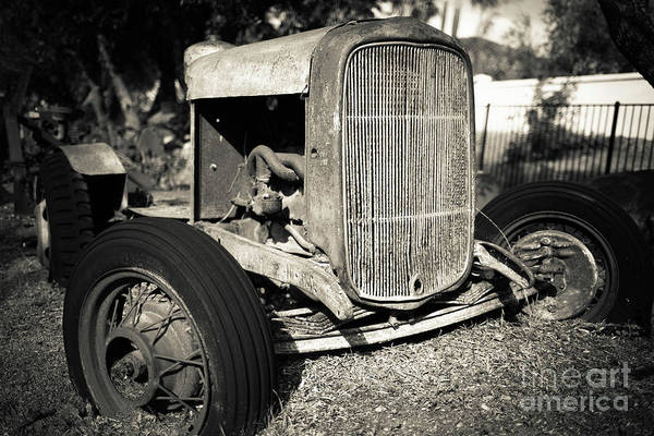 Photograph - Vintage Old Rusty Ford Farm Tractor Escondido by Edward Fielding
