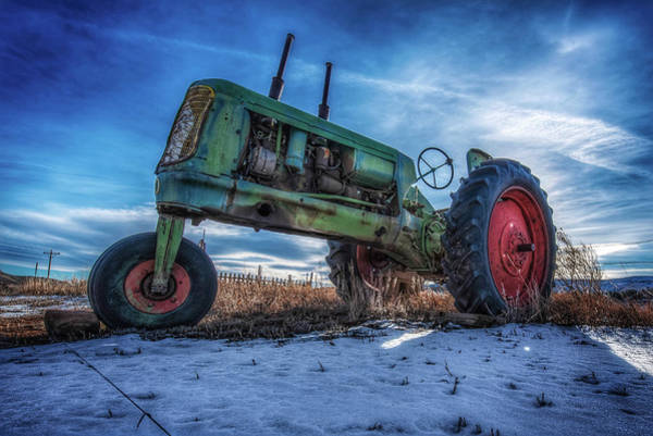 Old Farm Equipment Photograph - Vintage Oliver Tractor In Winter by Christopher Thomas
