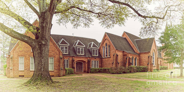 Wall Art - Photograph - Vintage Panorama Of Christ Episcopal Church In Nacogdoches - East Texas Piney Woods by Silvio Ligutti