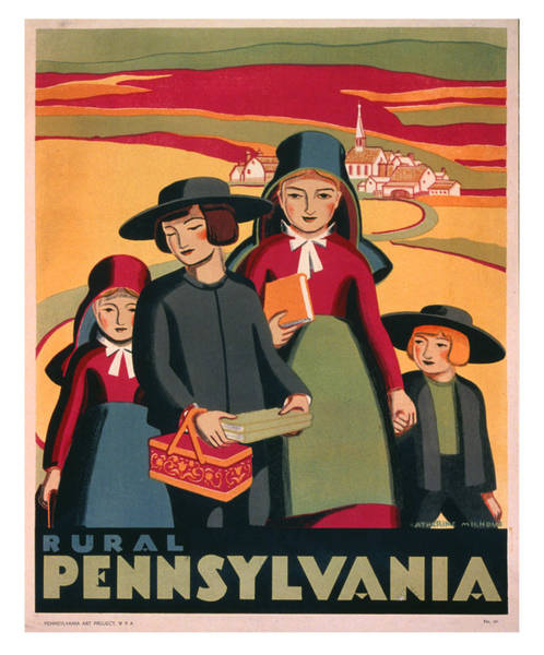 Wall Art - Photograph - Vintage Pennsylvania Travel Poster by Ricky Barnard