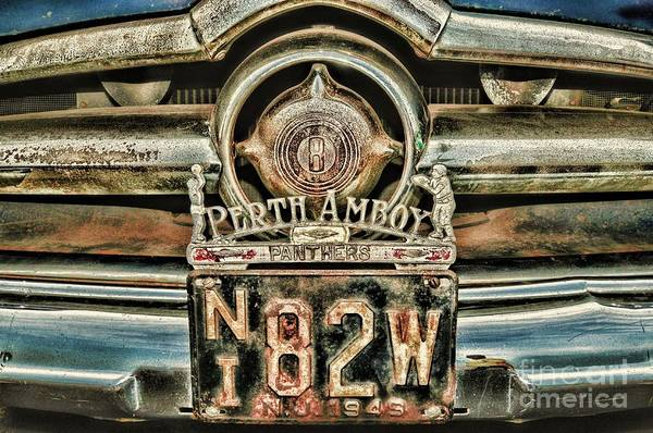 Wall Art - Photograph - Vintage Perth Amboy Panthers License Plate Topper by Paul Ward