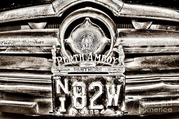 Wall Art - Photograph - Vintage Perth Amboy Panthers License Plate Topper Retro by Paul Ward