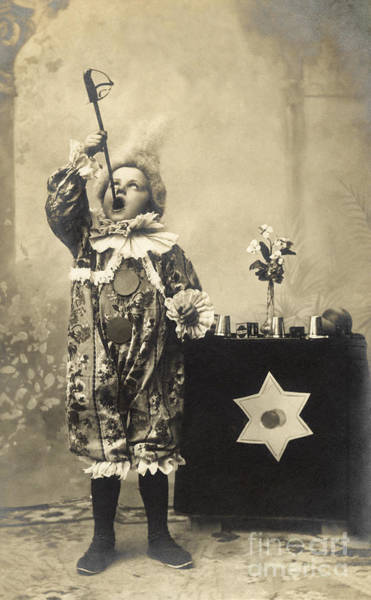 Sword Wall Art - Photograph - Vintage Photo Of Child Sword Swallower by Chippix