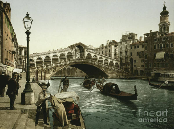 Wall Art - Photograph - Vintage Photograph Of The Rialto Bridge Venice by American School