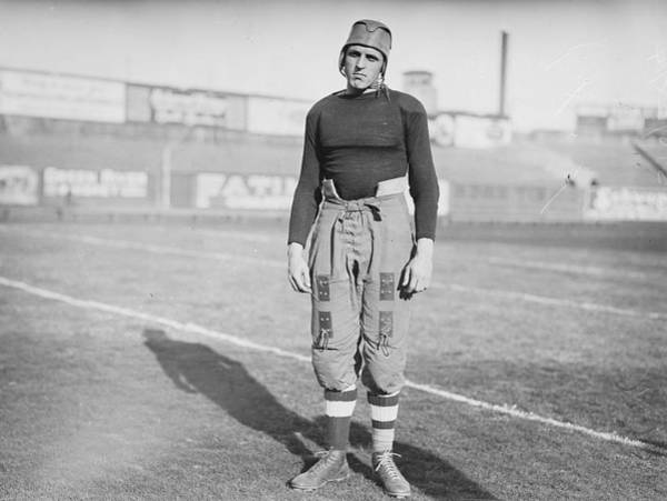 Painting - Vintage Photography Print Football Player Vintage Sports Photo Antique Photograph 1920s by Celestial Images