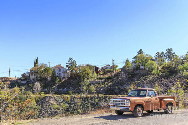 Wall Art - Photograph - Vintage Pickup Truck Jerome Arizona by Edward Fielding