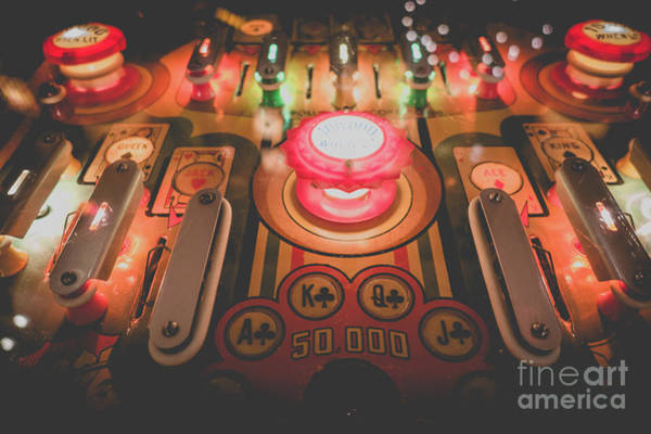 Photograph - Vintage Pinball Film Fade 2 by Edward Fielding