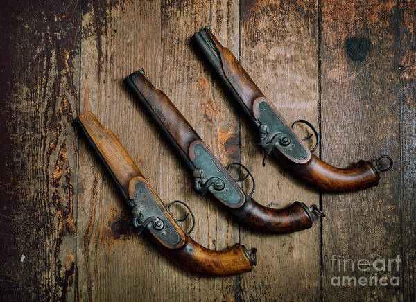 Wall Art - Photograph - Vintage Pistols by Jelena Jovanovic