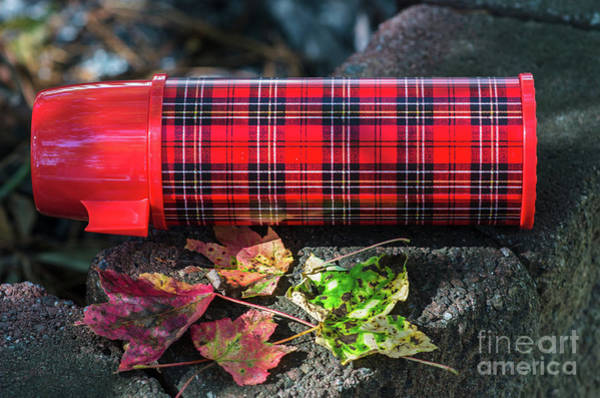 Photograph - Vintage Plaid Thermos by Dale Powell
