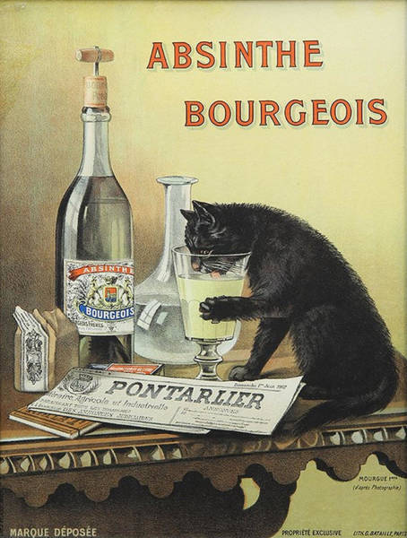 Screenprinting Painting - Vintage Poster - Absinthe Bourgeois by Vintage Images