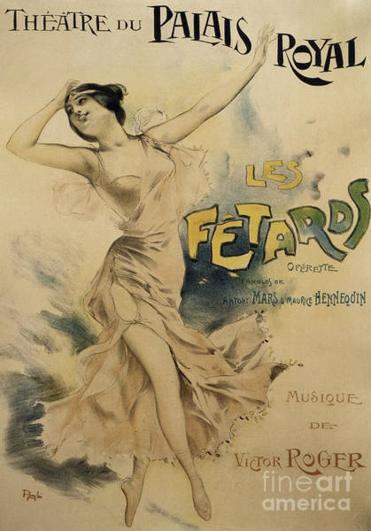Wall Art - Drawing - Vintage Poster For Le Fetards by French School