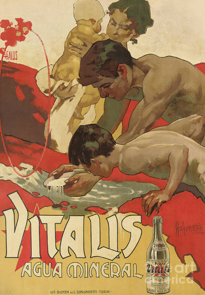 Wall Art - Painting - Vintage Poster For The Mineral Water Vitalis, 1895 by Adolfo Hohenstein