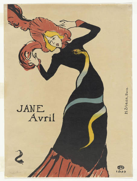 Screenprinting Painting - Vintage Poster - Jane Avril by Vintage Images